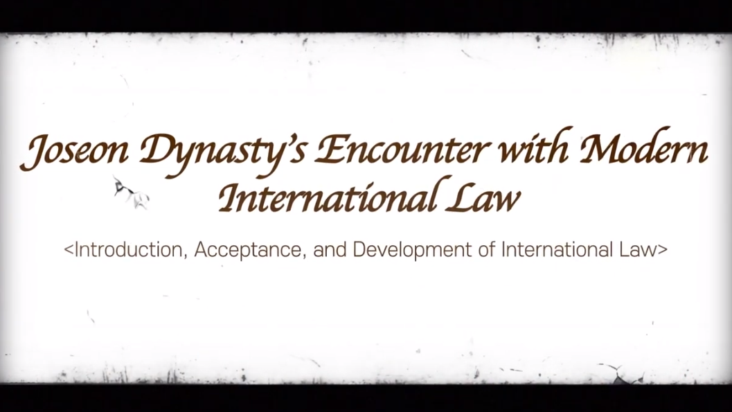 Center for International Law - Joseon Dynasty's